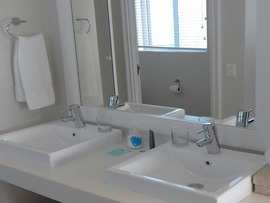 The Robberg Beach Lodge View Room R10 Bathroom Double Sinks
